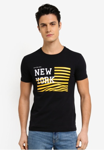 Calvin Klein black Tanav Slim Crew Neck Short Sleeve T-Shirt - Calvin Klein Jeans CFF5EAAF646462GS_1