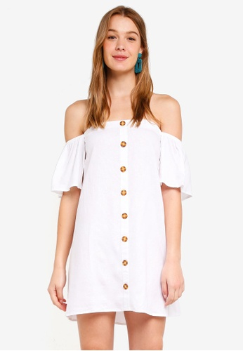 Cotton On white Woven Off The Shoulder Oliver Dress CBAB1AA4ADDB10GS_1