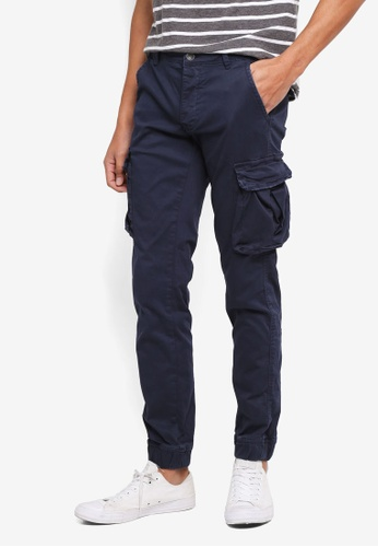 OVS blue Cargo Pocket Pants A23CCAAC8FA6FDGS_1