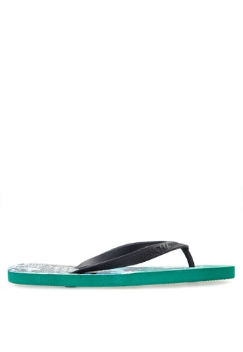 BENCH blue Printed Rubber Slippers BE550SH97MBQPH_1