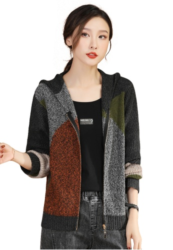 A-IN GIRLS multi Fashion Color-Block Knitted Jacket AAB15AA8A7AC41GS_1