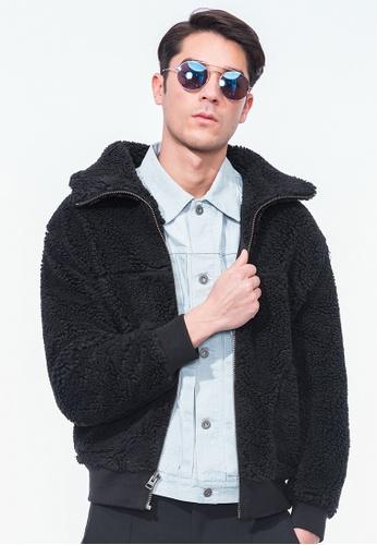 Alpha Style black Ewan Sherpa Jacket AL461AA0GYH9SG_1