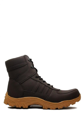 Cut Engineer brown Cut Engineer Safety Boots Apple Iron Leather Dark Brown CU226SH40SETID_1