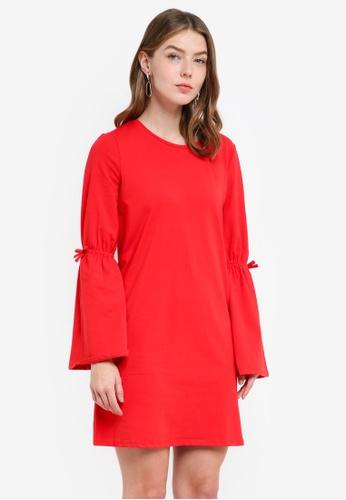 OVS red Women's Knitted Dress B514DAADD17EC2GS_1