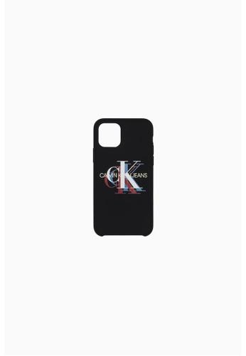 Calvin Klein black Calvin Klein Silicone Monogram  Iphone 11 Case B05D4AC20914BBGS_1