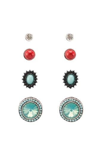 Red's Revenge blue 4-in-1 Bright & Brilliant Vintage Studs Earrings Set F0CBFAC0D6DFC0GS_1