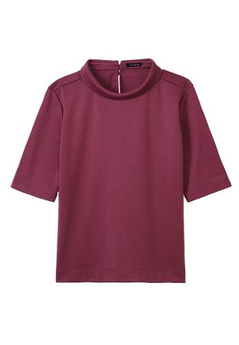 Cheetah purple C Union Casual Short Sleeves Tee - CUL-90880-C1 C6C77AA1E42594GS_1