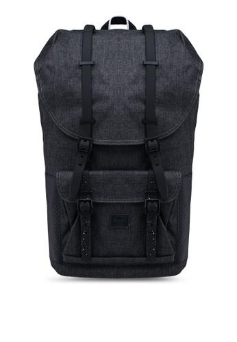 Herschel black Little America Backpack F7C70ACBD49701GS_1