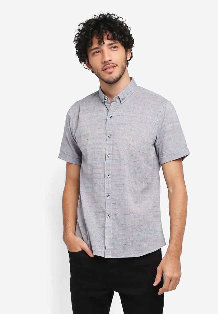 Sleeves Short Blue JAXON Shirt Stripe S5pxqPw4nX