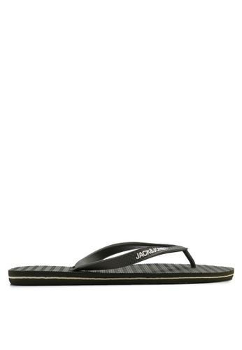 Jack & Jones green Basic Flip Flops 4E3C2SH182DB8BGS_1