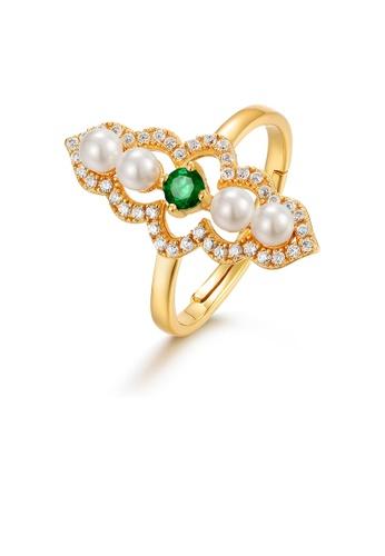 SUNSET gold Premium 9K Gold Pearl Ring 79989ACA3D2533GS_1