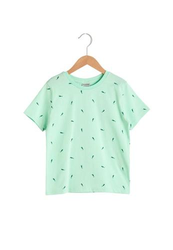 LC Waikiki green Boy's Printed Cotton T-Shirt 24728KA93F606BGS_1