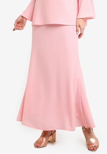 BYN pink Duyong Skirt BY059AA42VKFMY_1