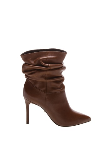 SCHUTZ brown Brown Soft Leather Ankle Boots - PHOEBE [NEW CARAMELO] EC727SHC5AA332GS_1