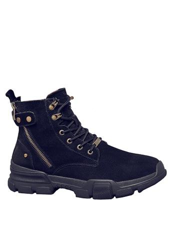 Twenty Eight Shoes black Pig Suede Side Zipper Mid Boots VMB1117 9C6CCSH291F86AGS_1