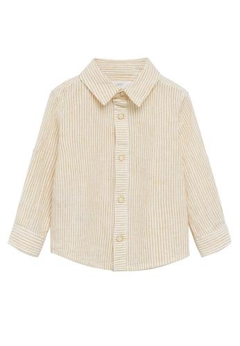 MANGO BABY yellow Regular Fit Cotton Linen-Blend Shirt DE6BDKAC4E634BGS_1