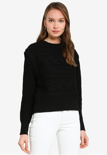 ONLY black Vicky Long Sleeve Pullover BB9C7AA938F31DGS_1