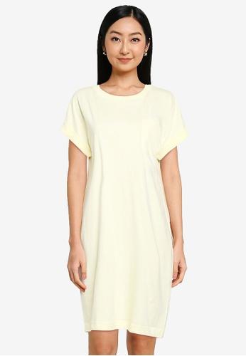 GAP yellow Pocket Tee Dress 4E8E5AAA7E916FGS_1