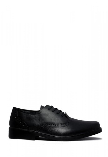 D-Island Shoes Formal Wingtip Genuine Leather Black