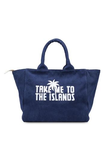 Guess navy Beach Bag CB795AC0B23435GS_1