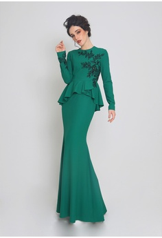 8383bb2f497 Jovian green Jovian Leena Modern Dress Emerald Green 39833AA3C4B67BGS 1