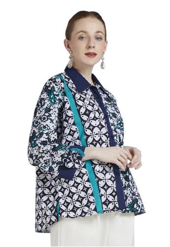 Batik Jagad Tresno green Piurity Blouse Cap Batik Wanita Modern 2BDD4AAB82D510GS_1