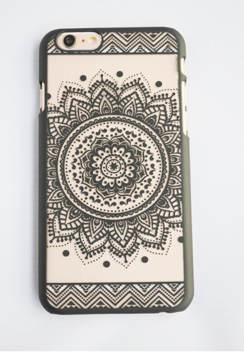 Fancy Cellphone Cases black Mandala Case for iPhone 6 Plus FA644AC45EVIPH_1
