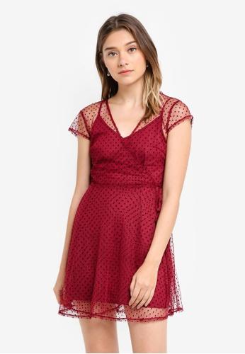 Something Borrowed black Sheer Wrap Dress B8A7AAA344F96BGS_1