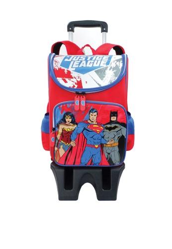 DC Comics red Justice League Trolley Holder School Bag EC8C6KC44FC4A9GS_1