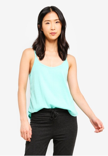 Cotton On Body blue Rib Sleep Tank Top 87445AAC7A8046GS_1