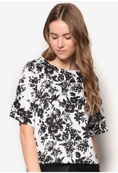 Collection Woven Elongated Kimono Sleeve Top