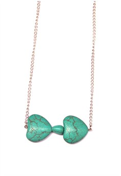 Bow Turquoise Necklace