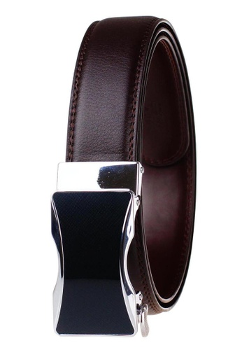 FANYU brown Leather Dress Belt With Automatic Buckle belt 8309DACC2343C9GS_1