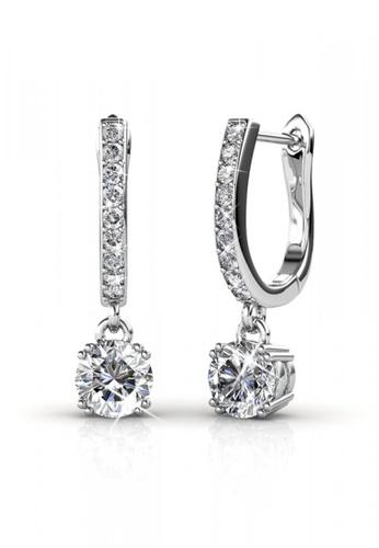 Her Jewellery silver Enchanted Hoop Earrings - Licensed Genuine Crystals from Swarovski® HE581AC0RDR6MY_1