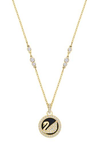Buy swarovski leather swan pendant necklace online on zalora singapore swarovski black and gold leather swan pendant necklace ff56dac3628959gs1 mozeypictures Images