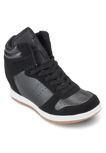 Hesprit旗艦店yde 混合材質內增高運動鞋, 女鞋, 鞋