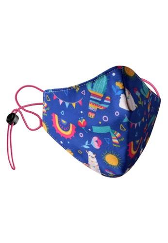 Rokarola blue Adjustable Elastic Earloop Mask Kids - Llama (Water Repellent - Anti-Bacteria) 5C757ES3FD63F4GS_1