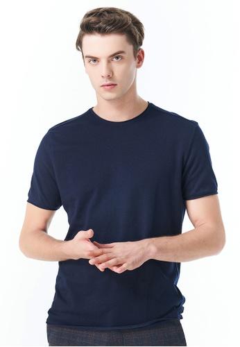 Sisley navy Regular Fit T-shirt 428F8AA778BD2FGS_1