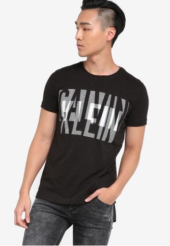 Calvin Klein 黑色 圓領短袖Tee CA221AA62NZDMY_1