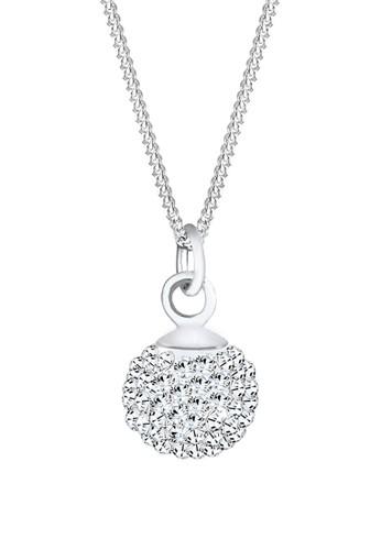施華洛世奇水晶球 925 純銀項鍊, 飾品配esprit 折扣件, 項鍊