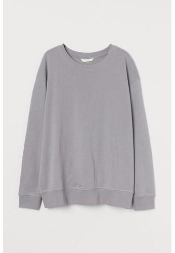 H&M grey MAMA Sweatshirt EDC24AA89F1E35GS_1