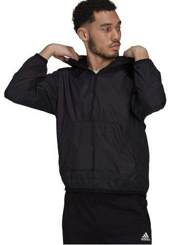 ADIDAS black adidas sportswear z.n.e. half-zip windbreaker 02E2FAAD980E7EGS_1