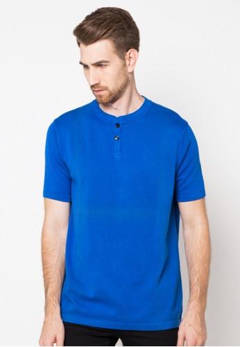 Noir Sur Blanc blue Mens O-neck Short Sleeve NO321AA82SUBID_1