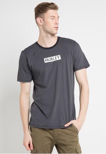 hurley black and multi Dri-Fit Blackest T-Shirt BE183AA5D37B24GS_1