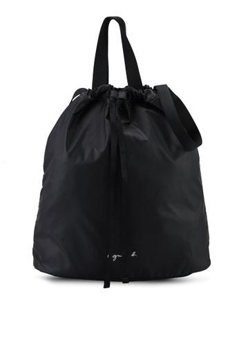 agnès b. black Shoulder Sling Bag C09D7AC2B48C0EGS_1