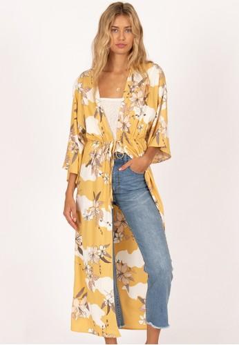 AMUSE SOCIETY yellow Ginger Woven Kimono 572C9AABD112AEGS_1