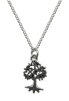 S925 Fine Silver Tree Pattern Silver Serpetine Chain