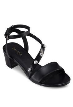 Bejewelled Asymetric Heeled Sandals