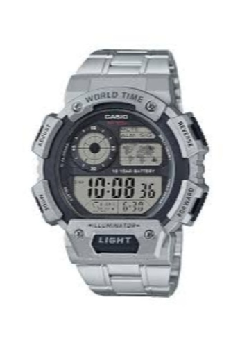 CASIO silver Casio Men's Digital AE-1400WHD-1AVDF Stainless Steel Band Sport Watch 47242AC4923E0EGS_1