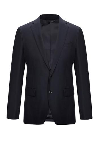D'urban blue Single-Breasted Blazer Jacket D333FAA6827927GS_1